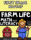 Farm Math and Literacy No Prep First Grade Pack