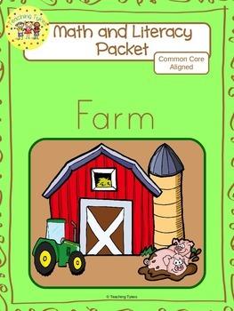 Farm Worksheets Emergent Reader Task Cards