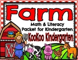Farm Math and Literacy Printable Packet for Kindergarten