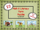 Farm Math and Literacy Puzzles