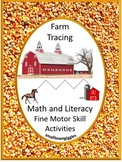 Farm Tracing Worksheets Literacy and Math Distance Learnin