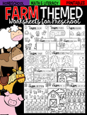 Farm Math and Literacy Worksheets for Preschool