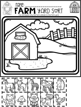 Farm Math and Literacy Worksheets for Preschool