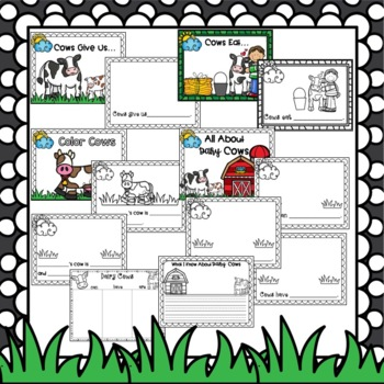 Farm Dairy Milk Cow Craft for Fall and Spring with Writing Activities