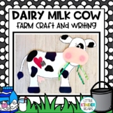 Farm Dairy Milk Cow Craft for Fall and Spring with Writing