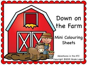 Farm Mini Colouring Sheets
