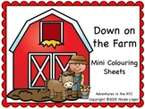 Farm Mini Colouring Sheets