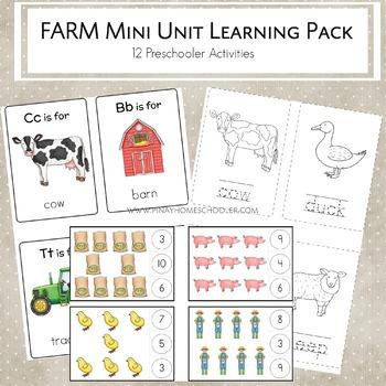 Farm Mini Unit Activities