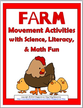 Farm Theme Science with Movement Activities, Literacy, and