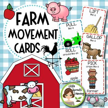 Farm Movement Cards (Transition Activity or Brain Breaks)