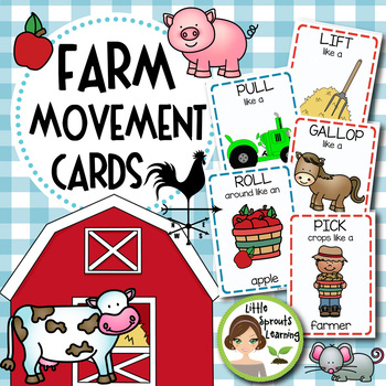 Farm Movement Cards (Transition Activity or Brain Breaks)
