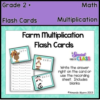 Farm Multiplication Flash Cards