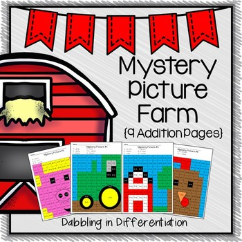 Addition Farm Mystery Picture