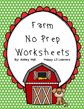 Farm No Prep Worksheets