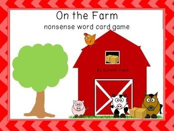 Farm Nonsense CVC Card Game