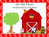 Farm Nonsense CVC Card Game