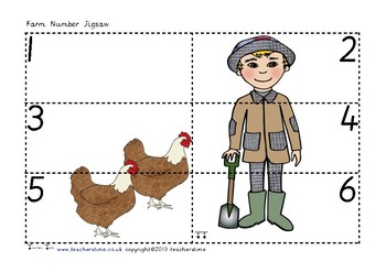 Farm Number Jigsaws