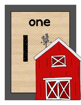 Farm Number Posters #1-10