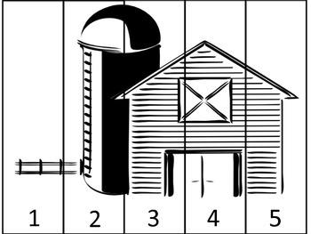 Farm Number Puzzle 1-5