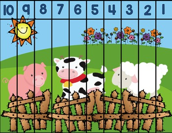 Farm Number Puzzles: 10-1 & 20-11