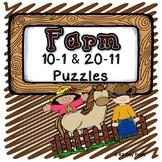 Farm Number Puzzles: 10-1 & 20-11