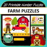 Farm Number Puzzles - 20 Preschool Kindy Farm Puzzles 1-10 + Times Tables