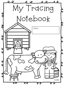 Farm Number Trace Notebook
