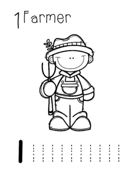 Farm Number Worksheets 1-10