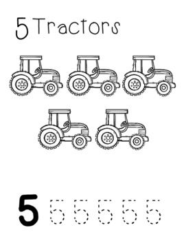 Farm Number Worksheets 1-10