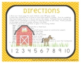 Farm Number Writing Book