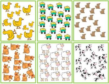 Farm Numbers Differentiated Write the Room Fun for Common Core
