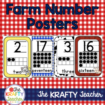 Room Decor Farm Numbers with 10 Frames with or without pictures