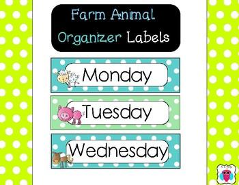 Farm Organizer Labels