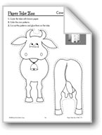 Farm Paper Tube Animals: Cow, Lamb, Goat, Chicken, Pony