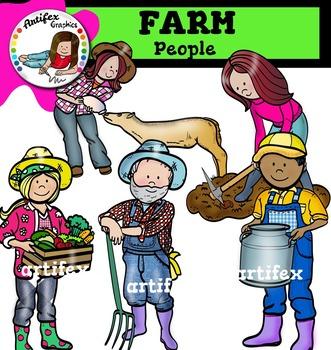 Farm People clip art