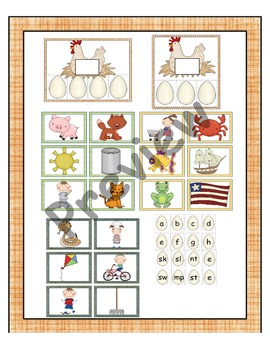Farm Phonics Game and Center