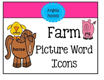 Picture Word Icons - Farm
