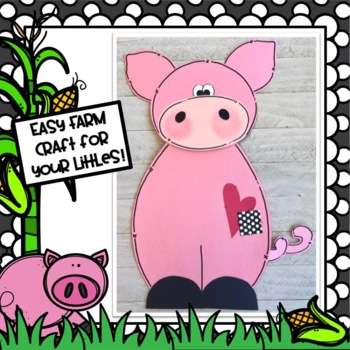 Farm Pig Craft, Class Book and Writing Activities