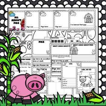 Farm Craft:  Pig Craft: FaLL and Spring Craft: Class Book and Writing Activities