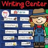Farm Pictionary Cards - Vocabulary, Writing Center, Write the Room   Fall Center
