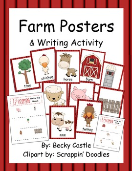 Farm Posters (10 total) & Corresponding Writing Activity