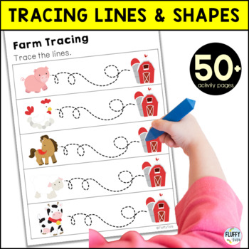 Farm Pre-Writing Tracing Pack for Preschool