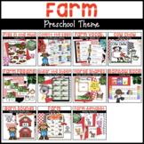 Farm Preschool Bundle | Math & Literacy Activities