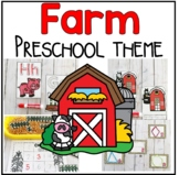 Farm Math and Literacy Centers for Preschool, PreK, and Kinder
