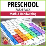 Farm Preschool Pack - Math and Handwriting