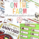 FARM THEME FOR PRESCHOOL, PRE-K AND KINDERGARTEN
