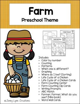 Farm Preschool Theme Pack