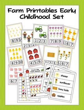 Farm Printable Activities for Preschool and Kindergarten