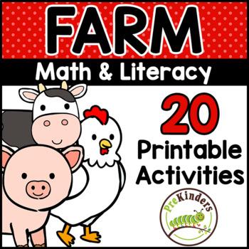 Farm Printable Math & Literacy Activities for Pre-K, Preschool ...