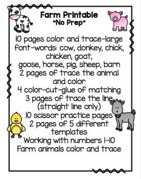 "Farm Printable ""No Prep"""